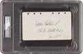 Autographs:Others, 1929 Eddie Collins Signed & Notated Album Page....
