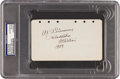Autographs:Others, 1929 Al Simmons Signed & Notated Album Page....