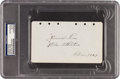 Autographs:Others, 1929 Jimmie Foxx Signed & Notated Album Page....