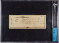 Baseball Collectibles:Others, 1948 Ty Cobb Signed Check. ...