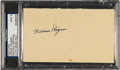 Autographs:Post Cards, 1950 Honus Wagner Signed Government Postcard, PSA/DNA Mint 9....