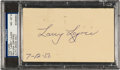 "Autographs:Post Cards, 1950 Napoleon ""Larry"" Lajoie Signed Government Postcard, PSA/DNA NM-MT 8...."