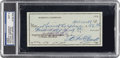 Autographs:Checks, 1972 Roberto Clemente Signed Personal Check, PSA/DNA MINT 9....