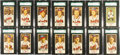 Baseball Cards:Sets, 1954 Johnson Cookies Milwaukee Braves Complete Set (35) -#1 on theSGC Set Registry. ...