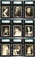 "Non-Sport Cards:Sets, 1925 Rothmans ""Cinema Stars-Large"" Complete Set (25) - #1 on theSGC Set Registry. ..."