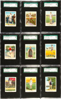 """Olympic Cards, 1910's E229 Y&S Licorice """"Champion Athlete Series"""" Complete Set (25) - #1 on the SGC Set Registry. ..."""