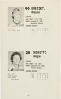 Hockey Collectibles:Publications, 1978-79 Indianapolis Racers Media Guide - From Wayne Gretzky's 1stYear as Pro....