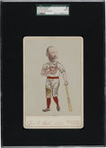 Baseball Cards:Singles (Pre-1930), C. 1892 Levi & Gold Studio Buck Ewing Cabinet Photo SGC Authentic. ...