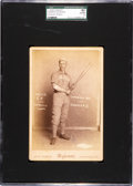 "Baseball Cards:Singles (Pre-1930), C. 1889 Wybrant Studio William ""Farmer"" Weaver Cabinet Photo SGC 80EX/NM 6. ..."