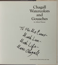 Books:Art & Architecture, [Marc Chagall]. Alfred Werner. SIGNED TWICE BY CHAGALL. ChagallWatercolors and Gouaches. New York: Watson-Gupti...