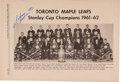Hockey Collectibles:Programs, 1962 NHL All-Star Game Program Signed Multiple Times by Johnny Bower....