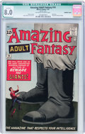 Silver Age (1956-1969):Science Fiction, Amazing Adult Fantasy #14 Married Cover (Marvel, 1962) CGCQualified VF 8.0 Off-white to white pages....
