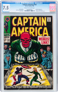Silver Age (1956-1969):Superhero, Captain America #103 (Marvel, 1968) CGC VF- 7.5 Cream to off-white pages....