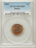 Indian Cents, 1909 1C MS63 Red and Brown PCGS. PCGS Population (243/778). NGCCensus: (148/645). Mintage: 14,370,645. Numismedia Wsl. Pri...