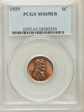 Lincoln Cents, 1929 1C MS65 Red and Brown PCGS. PCGS Population (54/7). NGCCensus: (52/7). Mintage: 185,262,000. Numismedia Wsl. Price fo...