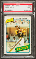 Baseball Cards:Singles (1970-Now), 1980 O-Pee-Chee Ozzie Smith #205 PSA Mint 9 - None Higher! ...