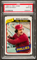 Baseball Cards:Singles (1970-Now), 1980 O-Pee-Chee Mike Schmidt #141 PSA Gem Mint 10 - One of OnlyTwo! ...