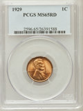 Lincoln Cents, 1929 1C MS65 Red PCGS. PCGS Population (519/456). NGC Census:(278/234). Mintage: 185,262,000. Numismedia Wsl. Price for pr...