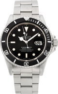 Timepieces:Wristwatch, Rolex Ref. 16800 Oyster Perpetual Date Submariner, circa 1986. ...