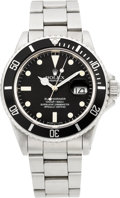 Timepieces:Wristwatch, Rolex Ref. 16800 Oyster Perpetual Date Submariner, circa 1984. ...