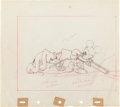 Animation Art:Production Drawing, Mickey's Parrot Mickey Mouse and Pluto Animation Production Drawing Original Art (Walt Disney, 1938)....