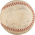 Autographs:Baseballs, 1934 National League All-Star Team Signed Baseball....