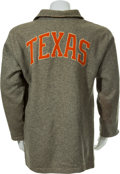 Football Collectibles:Uniforms, 1930's-40's University of Texas Longhorns Game Worn SidelinePullover Sweater....
