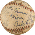 Autographs:Baseballs, 1932-33 New York Yankees Signed Baseball with Ruth, Gehrig....