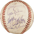 Autographs:Baseballs, 1955 Brooklyn Dodgers Partial Team Signed Baseball....