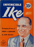 Books:Biography & Memoir, Dwight D. Eisenhower [subject]. Don Russell. Invincible Ike.Successful Living, 1952. First edition, first printing....