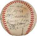 Baseball Collectibles:Balls, 1941 Chicago Cubs Team Signed Baseball With Dizzy Dean. ...
