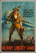 "Movie Posters:War, World War I Propaganda (U.S. Government Printing Office, 1919).Victory Liberty Loan Poster (20"" X 30"") ""And They Thought We..."