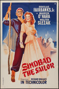 "Movie Posters:Adventure, Sinbad the Sailor (RKO, 1946). French Affiche (33"" X 47"").Adventure.. ..."