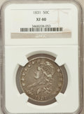 Bust Half Dollars: , 1831 50C XF40 NGC. NGC Census: (79/1351). PCGS Population(138/1429). Mintage: 5,873,660. Numismedia Wsl. Price forproblem...