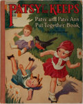 Books:Children's Books, [Put Together Book]. Esther Merriam Ames. Patsy for Keeps.Gabriel Sons, 1932. Publisher's quarter cloth and pictori...