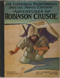 Books:Children's Books, [Photoplay Edition]. Daniel Defoe. The Adventures of RobinsonCrusoe. Donohue, 1922. Publisher's quarter cloth over ...