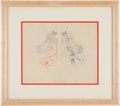 Animation Art:Production Drawing, The Cactus Kid Minnie Mouse Animation Production DrawingOriginal Art (Walt Disney, 1930)....