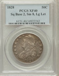 Bust Half Dollars: , 1828 50C Square Base 2, Small 8, Large Letters XF40 PCGS. PCGSPopulation (72/412). NGC Census: (18/187). ...