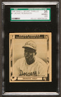 "Baseball Cards:Singles (1940-1949), 1948 Swell Sport Thrills ""Dramatic Debut"" Jackie Robinson #3 SGC 35Good+ 2.5. ..."