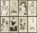 "Boxing Cards:General, 1938 Cartledge Razors ""Famous Prize Fighters"" Complete set (50)...."