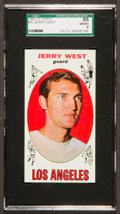 Basketball Cards:Singles (Pre-1970), 1969 Topps Jerry West #90 SGC 88 NM/MT 8....