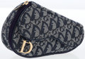 Luxury Accessories:Bags, Christian Dior Blue Monogram Denim Mini Saddle Pouch Accessory. ...
