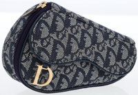 Christian Dior Blue Monogram Denim Mini Saddle Pouch Accessory
