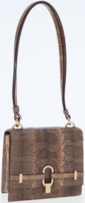 Luxury Accessories:Bags, Gucci Python Small Shoulder Bag with Gold Hardware. ...