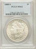 Morgan Dollars: , 1888-S $1 MS62 PCGS. PCGS Population (1128/3773). NGC Census:(728/1930). Mintage: 657,000. Numismedia Wsl. Price for probl...