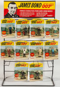 "Movie Posters:James Bond, James Bond- Gilbert Toys and Display Stand (Gilbert Co., 1965).Counter Top Display Stand (30.5"" T X 19"" W X 10"" D) and (15)...(Total: 16 Items)"