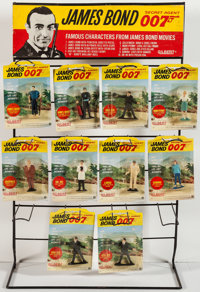 "James Bond- Gilbert Toys and Display Stand (Gilbert Co., 1965). Counter Top Display Stand (30.5"" T X 19"" W X 1..."
