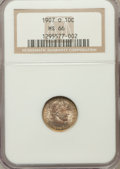 Barber Dimes: , 1907-O 10C MS66 NGC. NGC Census: (14/1). PCGS Population (12/1).Mintage: 5,058,000. Numismedia Wsl. Price for problem free...