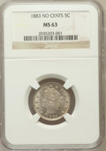 Liberty Nickels: , 1883 5C No Cents MS63 NGC. NGC Census: (1032/4605). PCGS Population(1529/4897). Mintage: 5,479,519. Numismedia Wsl. Price ...