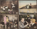 """Movie Posters:Action, When the Clouds Roll By (United Artists, 1919). Trimmed Title Lobby Card & Trimmed Lobby Cards (3) (10"""" X 13""""). Action.. ... (Total: 4 Items)"""
